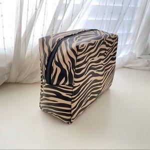 Tiger Print Makeup Cosmetic Bag